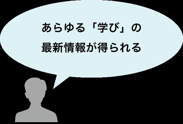 あらゆる「学び」の最新情報が得られる(教育機関のマネージャーなど教育設計者)